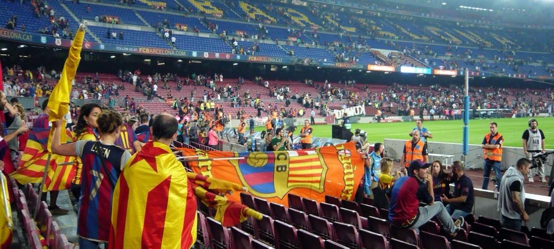 Im größten Fußballstadion Europas