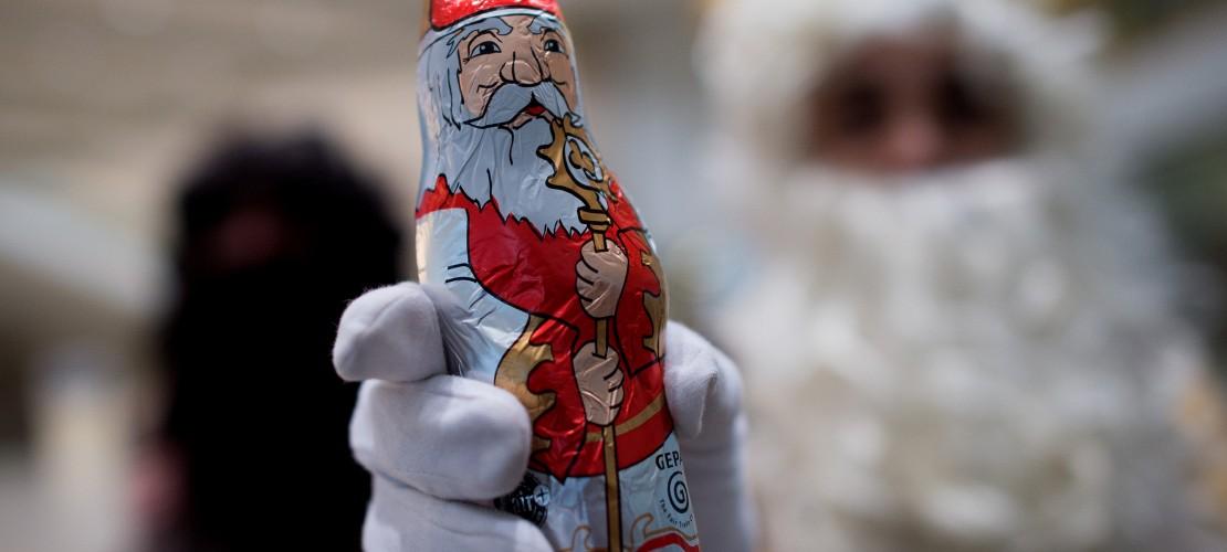 Nikolaus trägt keine rote Mütze