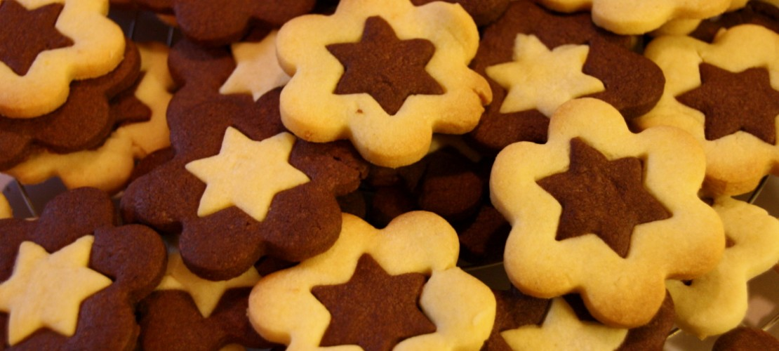 Kekse in Schwarz-Weiß