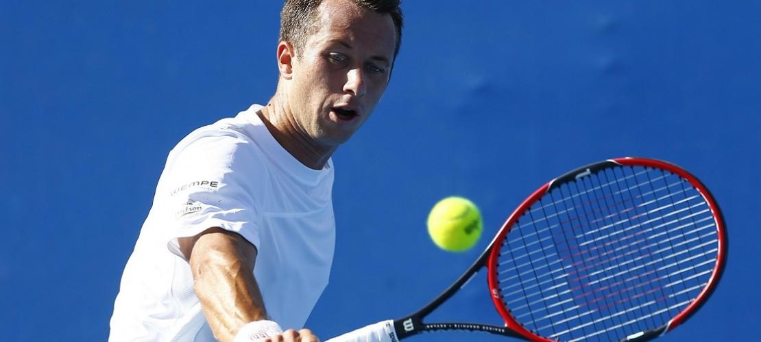 Er hat es geschafft: Philipp Kohlschreiber aus Deutschland ist bei den Australian Open eine Runde weiter. Viele seiner deutschen Kollegen sind schon ausgeschieden. (Foto: dpa)