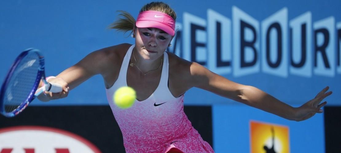 Die deutsche Tennis-Spielerin Carina Witthöft. Bei den Australian Open drücken ihr Familie und Freunde zu Hause die Daumen. (Foto: dpa)
