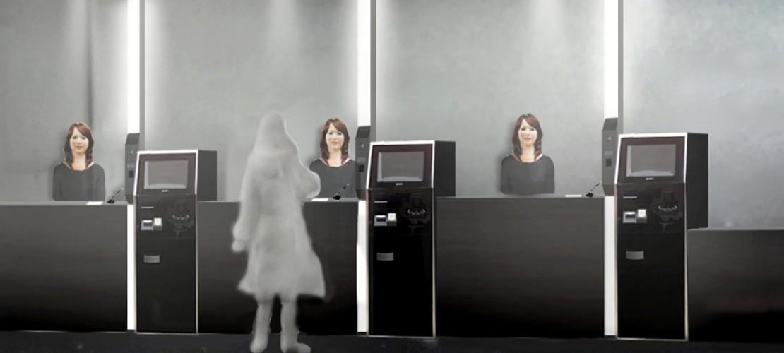 Am Empfang stehen Roboter, die wie Frauen aussehen. So soll es bald in einem Hotel in Japan zugehen. (Foto: dpa)