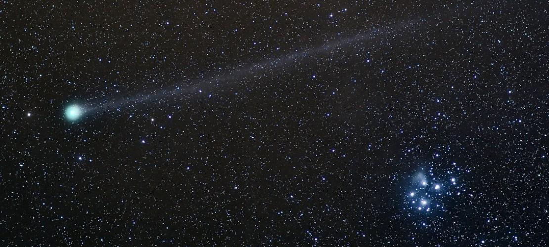 In Schleiden in der Region Eifel war der Komet Lovejoy zu sehen. Mit etwas Glück kannst du ihn derzeit noch beobachten. (Foto: dpa)