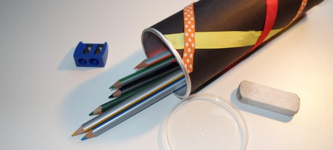 Bastel Stiftdosen aus alten Verpackungen