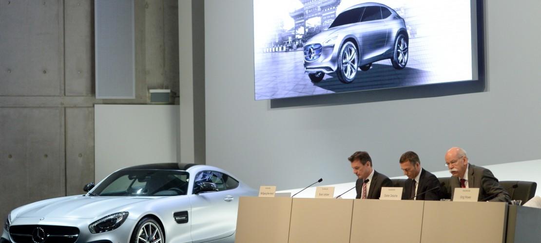 Beim dem Autohersteller Daimler haben die Chefs die Bilanz des Unternehmens vorgestellt. Sie gibt Auskunft darüber, wie gut oder schlecht es einem Unternehmen geht. (Foto: dpa)