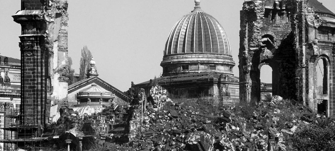 Erinnerung an die Bombardierung in Dresden