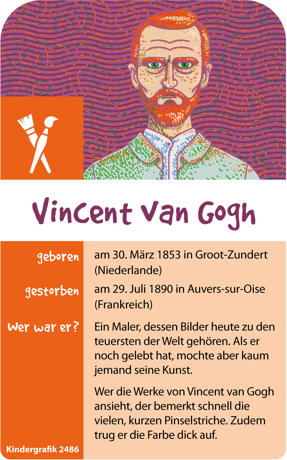 Vincent Van Gogh Biographie Grundschulmaterial 12