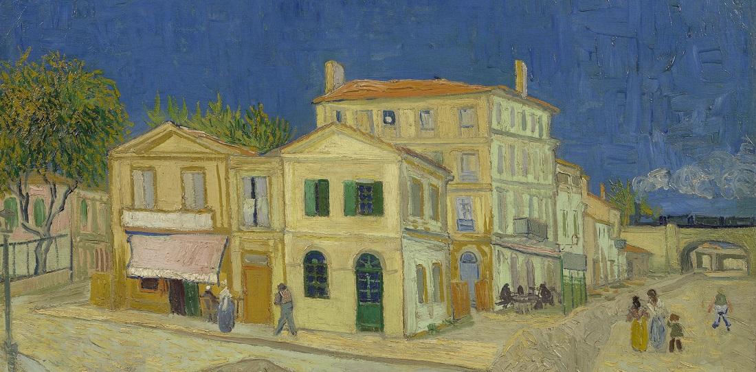In dem Haus mit den grünen Fensterläden wohnte Vincent van Gogh in Südfrankreich. (Foto: dpa)