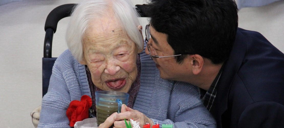 Herzlichen Glückwunsch! Die Japanerin Misao Okawa feiert ihren 117. Geburtstag. (Foto: dpa)