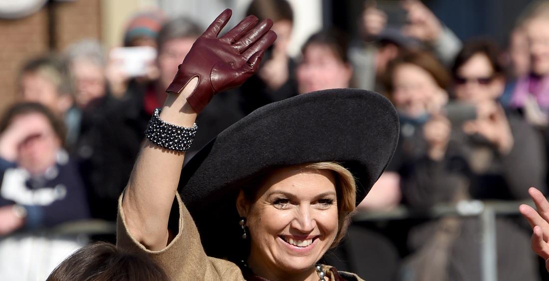 Königin Máxima winkte den Leuten in der Stadt Lübeck zu. (Foto: dpa)