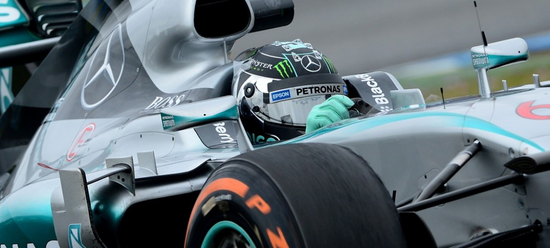 Das ist der Mercedes von dem deutschen Fahrer Nico Rosberg. (Foto: dpa)
