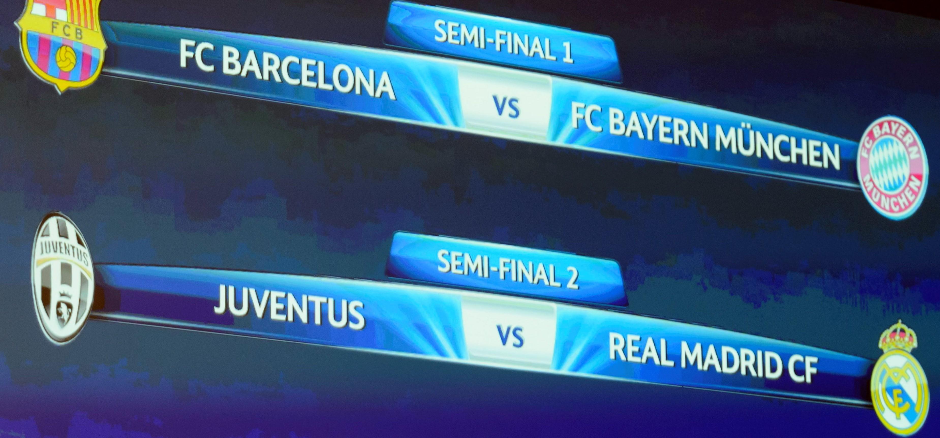 Hinspiel in Barcelona, Rückspiel in München. So sieht die Auslosung für Bayern aus. (Foto: dpa)