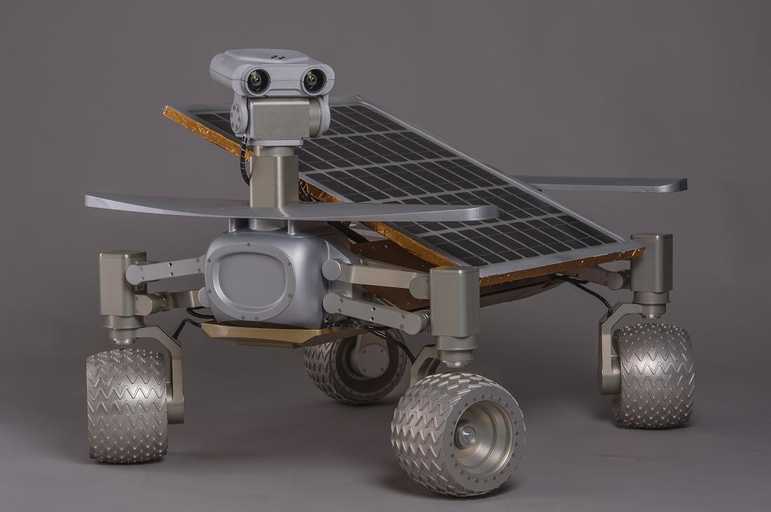 Dieses Gerät heißt Asimov und eines wie er soll einmal auf dem Mond herumfahren. (Fozo: dpa)