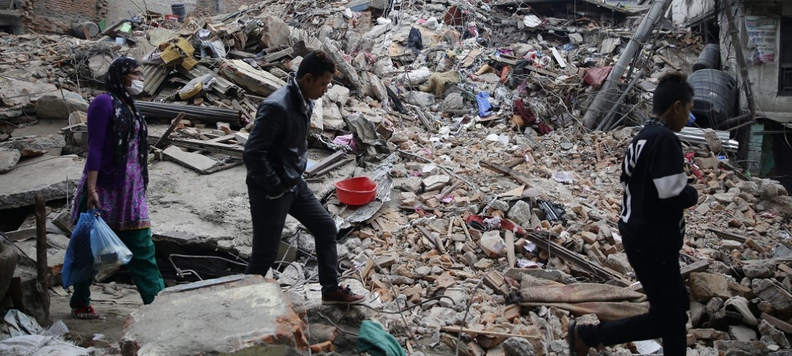 Hilfe nach dem schweren Erdbeben in Nepal