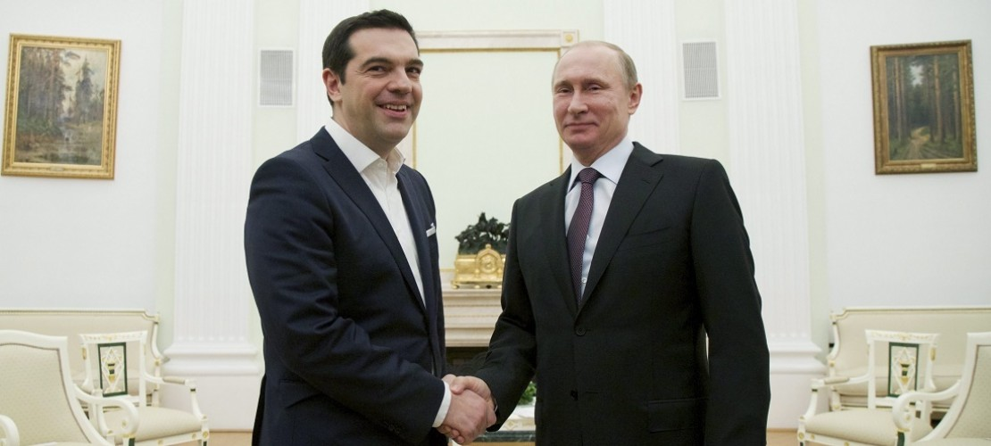 Diese beiden Politiker trafen sich am Mittwoch in Russland: Wladimir Putin und Alexis Tsipras. (Foto: dpa)