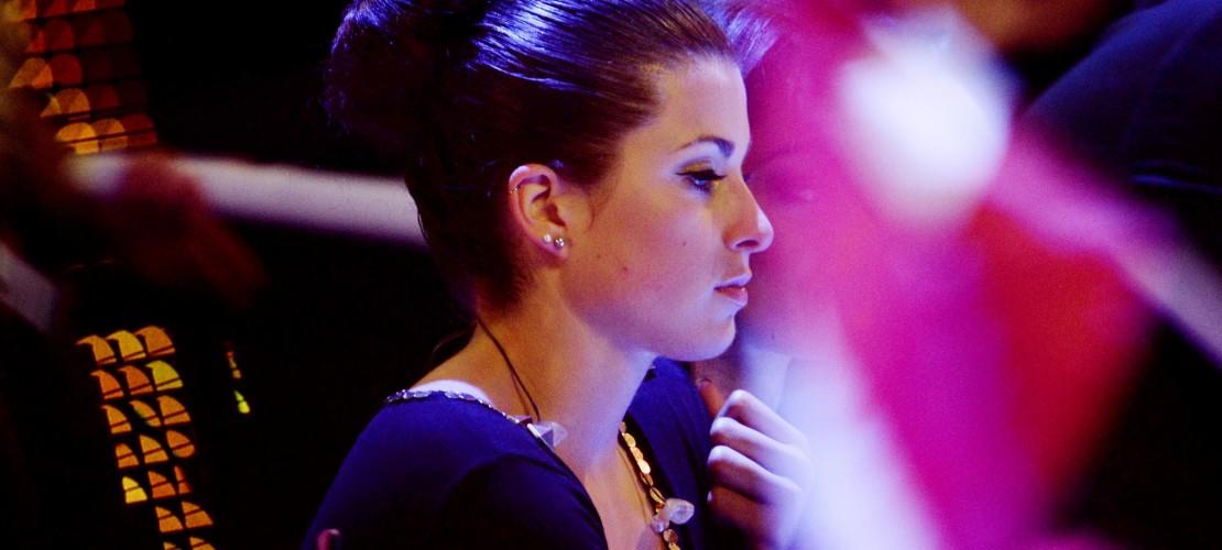 Hier sieht sie doch ein bisschen traurig aus: Die Sängerin Ann Sophie machte bei dem EUrovision Song Contest den letzten Platz- (Foto: dpa)