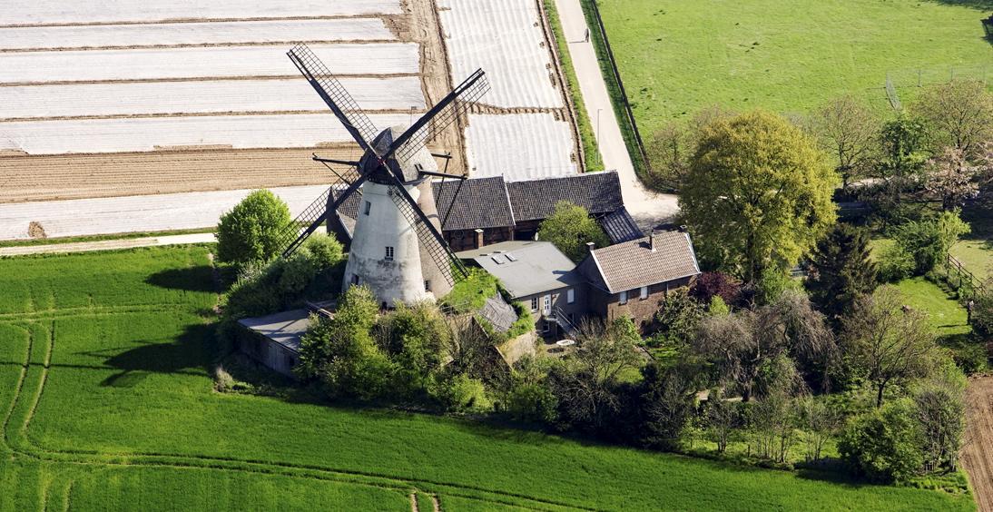Das ist die Grottenhertener Windmühle in Bedburg. (Foto: LVR)