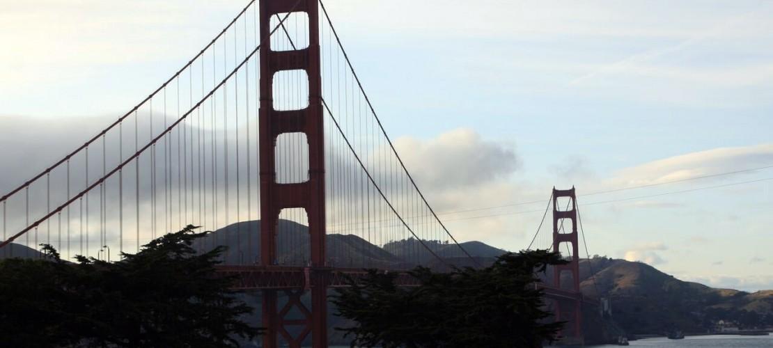 Eine berühmte Brücke: Die Golden Gate Bridge