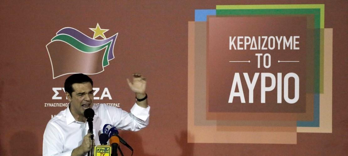 Nach der Wahl freute Alexis Tsipras sich über das Ergebnis. (Foto: dpa)