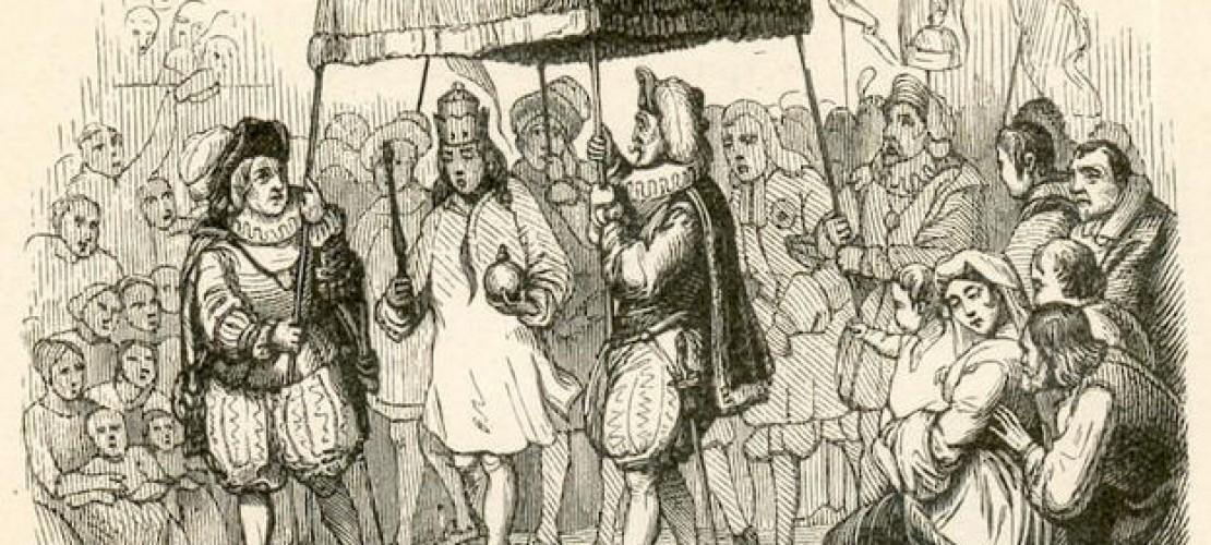 """Angeblich trägt der Kaiser Kleider, die nur von Personen gesehen werden können, die ihres Amts würdig und nicht dumm seien. (Foto: """"Emperor Clothes 01"""" von Vilhelm Pedersen. Lizenziert unter Gemeinfrei über Wikimedia Commons)"""