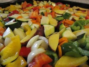 Gemüseblech mit Kräuterquark (5)