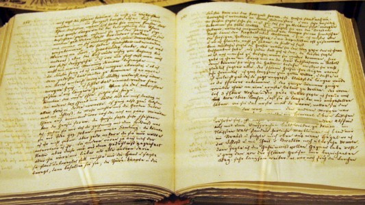 Märchen haben sich Menschen oft über Jahrhunderte erzählt. Sie wurden lange nicht aufgeschrieben. vor etwa 350 Jahren wurden sie zum ersten Mal aufgeschrieben. (Foto: ⓒ Copyright by Brüder Grimm-Gesellschaft Bildarchiv www.grimms.de)