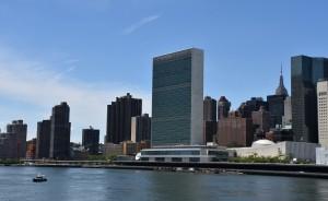 Das Hauptquartier der Vereinten Nationen liegt am Fluss East River in der Stadt New York. (Foto: dpa)