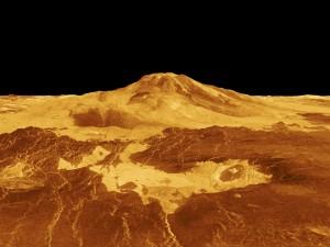 Der Venusboden ist mit Vulkanen übersät. Der höchste Berg ist der Maxwell Montes. (Foto: dpa)