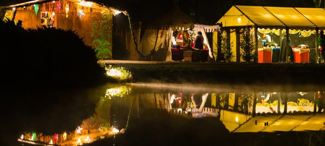 Auf der Burg Satzvey herrscht zu Weihnachten mittelalterliche Stimmung. (Foto: Mike Göhre)