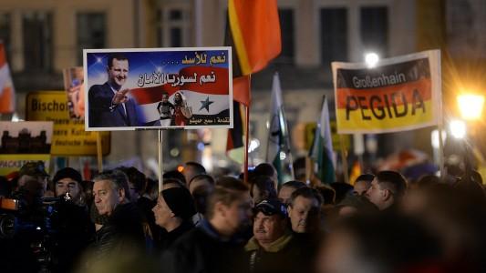 In der Stadt Dresden haben Anhänger der Gruppe Pegida demonstriert. (Foto: dpa)