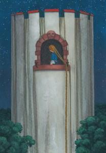 Rapunzel, gezeichnet von Nikolaus Heidelbach. (Illustration: Heidelbach)