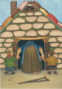 """Ein Bild zu dem Märchen """"Hänsel und Gretel"""", gemalt von Nikolaus Heidelbach. (Illustration: Heidelbach)"""