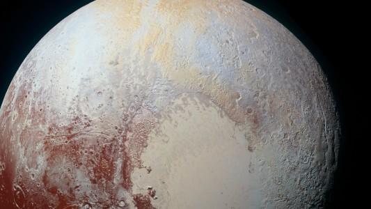 """Pluto, von der Raumsonde """"New Horizons"""" fotografiert"""
