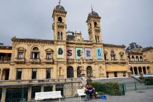 Das Rathaus der spanischen Stadt.