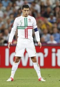 Cristiano Ronaldo vorm Schuss
