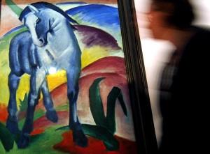 Besonders berühmt sind Marcs Bilder von blauen Pferden. (Foto: dpa)