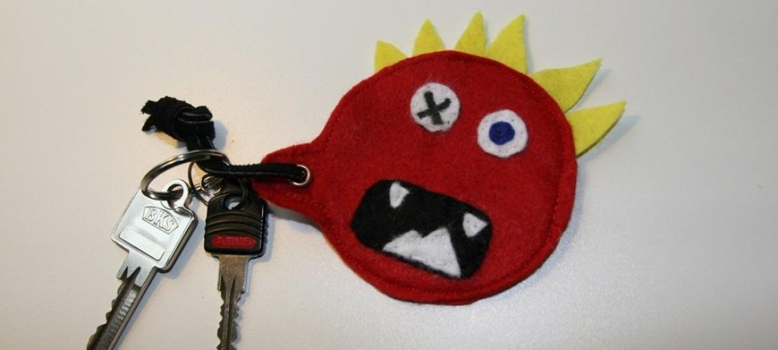 Monstermäßiger Schlüsselanhänger