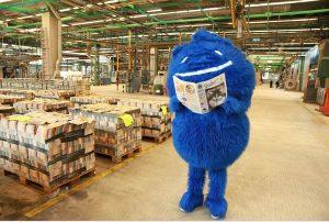 Hier kommt er her: Duda in der Zeitungs-Druckerei (Foto: Seiter)