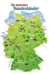 Das sind die deutschen Bundesländer. Mecklenburg-Vorpommern liegt ganz oben. (Foto: dpa)