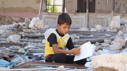 Schweres Jahr für Kinder in Syrien