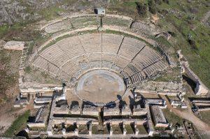 Ein griechisches Amphitheater von oben (Foto: dpa)