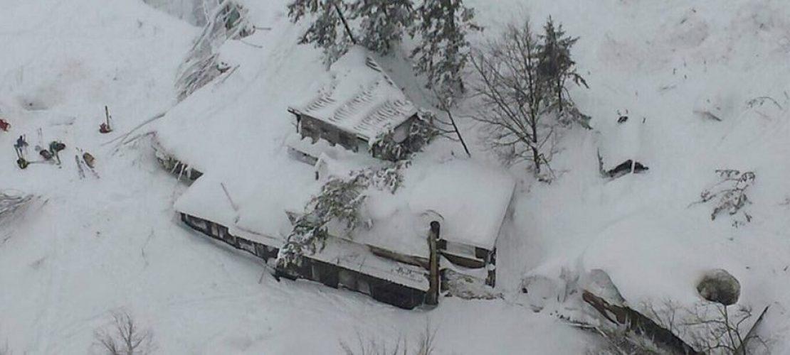 Schneelawine in Italien