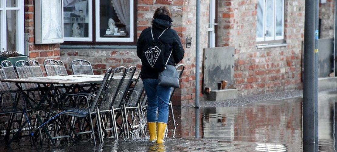 Sturmflut an der Ostsee