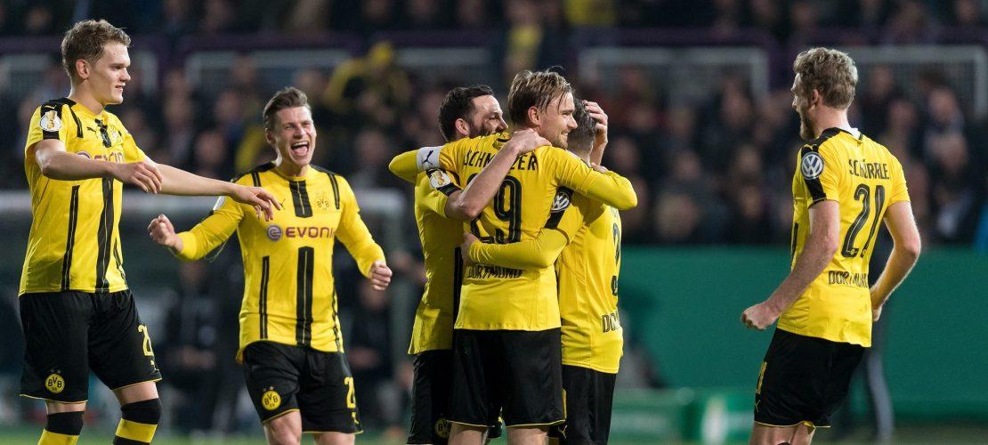 Dortmund siegt gegen Lotte