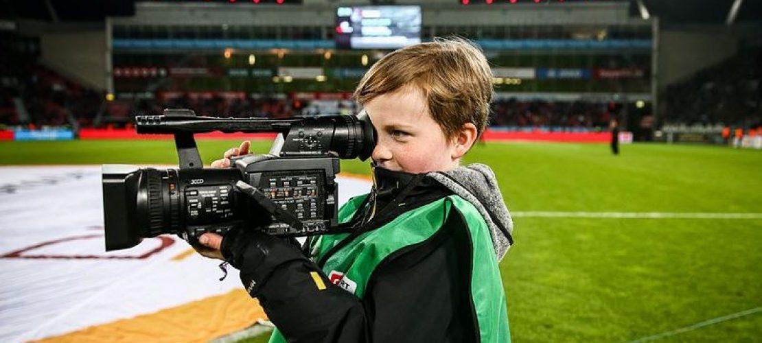Als Kamerakind bei Bayer04