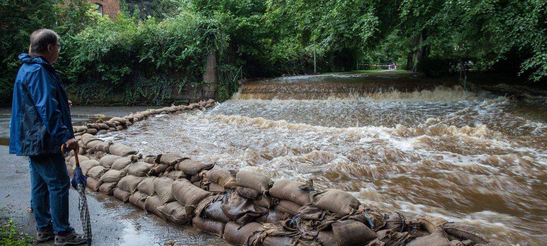 Sandsäcke schützen vor Hochwasser
