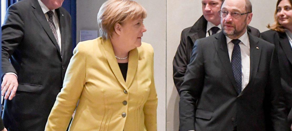 Zwei Parteien reden miteinander