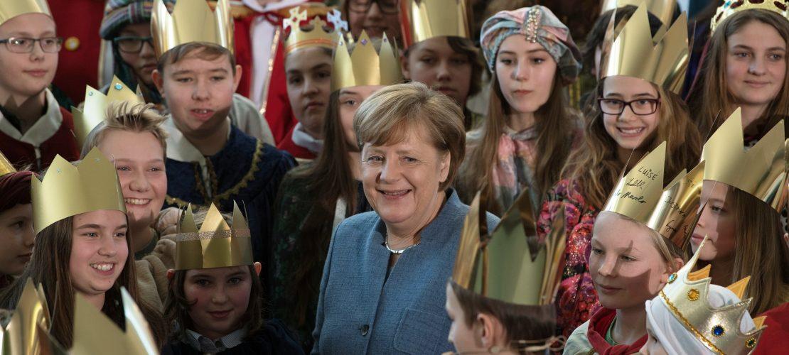 Könige besuchen Kanzlerin