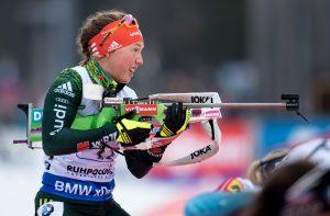 Biathlon: Weltcup, Staffel (4 x 6 km), Damen am 13.01.2018 in der Chiemgau Arena in Ruhpolding (Bayern). Biathletin Laura Dahlmeier aus Deutschland. Foto: Sven Hoppe/dpa +++(c) dpa - Bildfunk+++