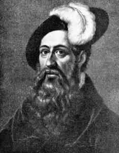 Zeitgenössische Darstellung von Johannes Gutenberg. (Foto: dpa)
